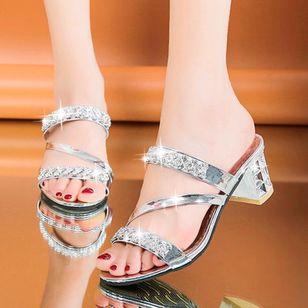 Women's Heels Chunky Heel Sandals Slippers_1