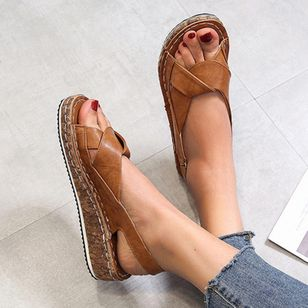 Women's Buckle Slingbacks Flat Heel Sandals_3