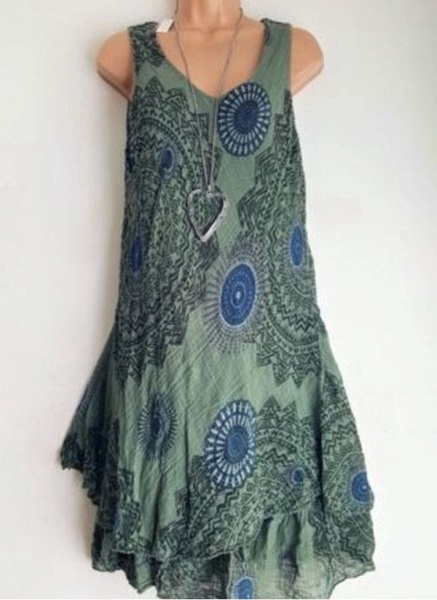 Casual Floral Round Neckline Above Knee Shift Dress_8