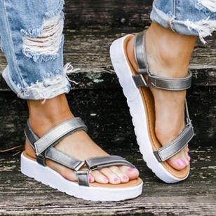 Women's Flats Cloth Flat Heel Sandals Platforms_1