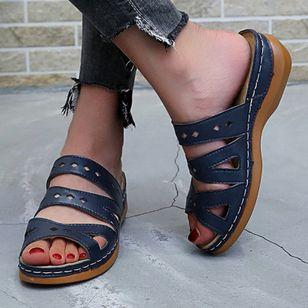 Women's Hollow-out Heels Wedge Heel Sandals_3