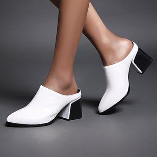 Women's Closed Toe Chunky Heel Sandals_1