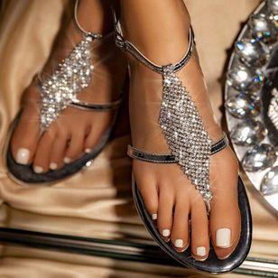 Women's Crystal Flip-Flops Flat Heel Sandals_10