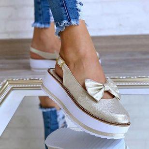 Women's Bowknot Buckle Slingbacks Wedge Heel Sandals_7