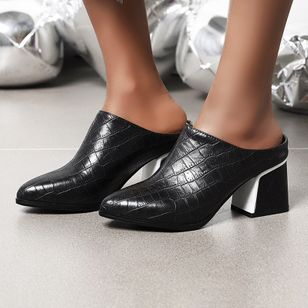 Women's Closed Toe Chunky Heel Sandals_3