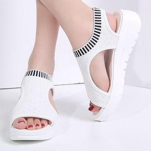 Women's Slingbacks Fabric Wedge Heel Sandals Platforms_4