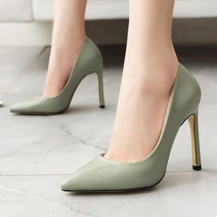 Women's Pointed Toe Heels Patent Leather Stiletto Heel Sandals_9
