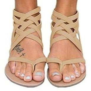 Women's Zipper Flip-Flops Flat Heel Sandals_3