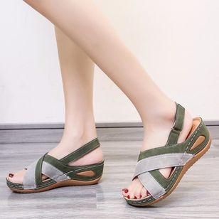 Women's Slingbacks Flat Heel Sandals Platforms_3
