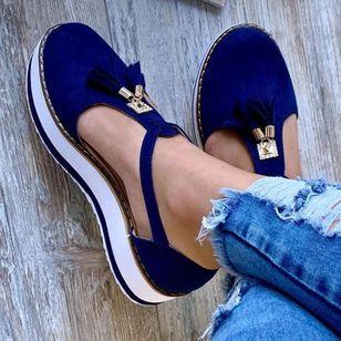 Women's Tassel Closed Toe Flat Heel Sandals_4