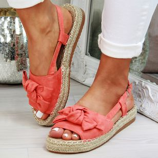 Women's Buckle Slingbacks Flat Heel Sandals_4