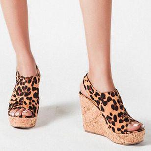 Women's Buckle Ankle Strap Peep Toe Wedge Heel Sandals_6
