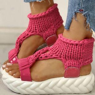 Women's Flats Cloth Flat Heel Sandals Platforms_7