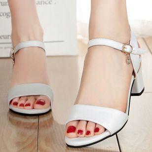 Women's Ankle Strap Peep Toe Low Heel Sandals_4