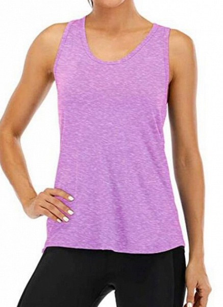 Women's Athletic Casual Sporty Polyester Yoga Vest Fitness & Yoga_6