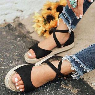 Women's Flats Linen Flat Heel Sandals_1