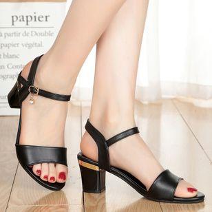 Women's Ankle Strap Peep Toe Low Heel Sandals_3