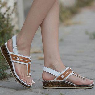 Women's Slingbacks Toe Ring Wedge Heel Sandals_3