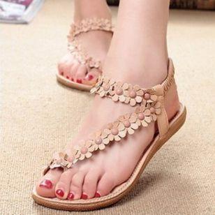 Women's Flower Flip-Flops Flat Heel Sandals_2