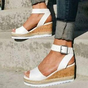 Women's Buckle Modern Wedge Heel Sandals_2