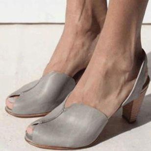 Women's Peep Toe Slingbacks Cone Heel Sandals_3