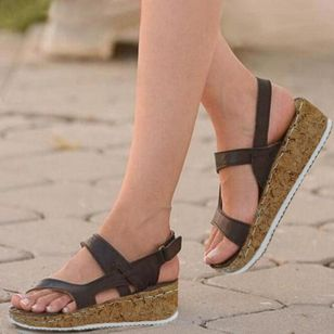Women's Velcro Flats Flat Heel Sandals_2