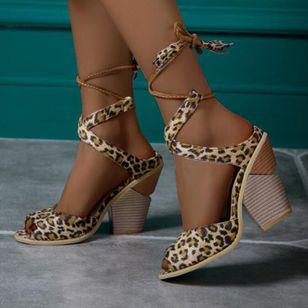 Women's Lace-up Tassel Slingbacks Nubuck Chunky Heel Sandals_2