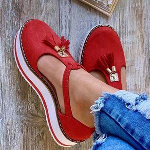 Women's Tassel Closed Toe Flat Heel Sandals_6