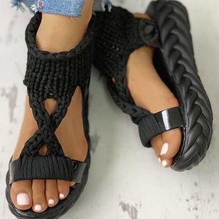 Women's Flats Cloth Flat Heel Sandals Platforms_8