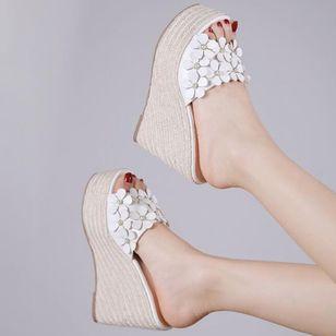 Women's Flower Peep Toe Wedge Heel Sandals_11