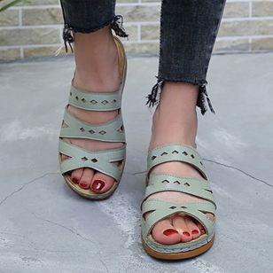 Women's Hollow-out Heels Wedge Heel Sandals_5