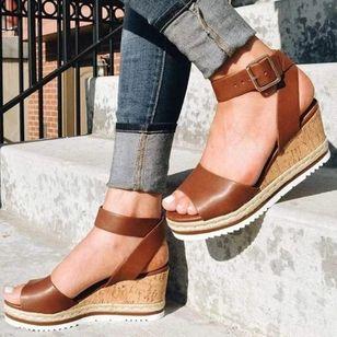Women's Buckle Slingbacks Wedge Heel Sandals Platforms_2