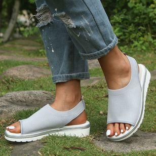 Women's Slingbacks Fabric Wedge Heel Sandals_4