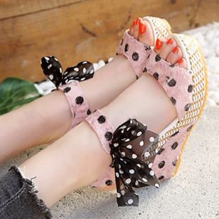 Women's Slingbacks Heels Cloth Wedge Heel Sandals Wedges_1