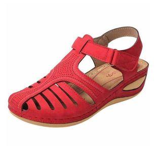 Women's Buckle Flats Low Heel Sandals_4