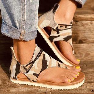 Women's Geometric Zipper Flip-Flops Flat Heel Sandals_2