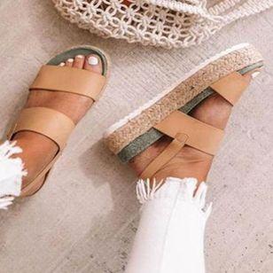 Women's Buckle Flats Flat Heel Sandals_3