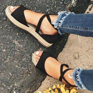 Women's Flats Linen Flat Heel Sandals_2