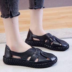 Women's Hollow-out Flats Flat Heel Sandals Flats_2