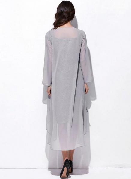 Arabian Solid Wrap Square Neckline Sheath Dress_4