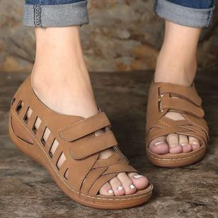 Women's Hollow-out Wedge Heel Sandals_2