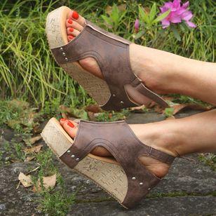 Women's Slingbacks Wedge Heel Sandals Platforms_5