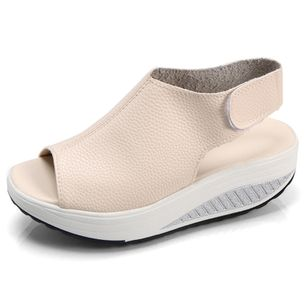 Women's Velcro Slingbacks Wedge Heel Sandals_3