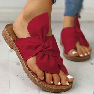 Women's Bowknot Flats Cloth Flat Heel Sandals_7