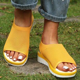 Women's Slingbacks Fabric Wedge Heel Sandals_7