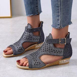 Women's Buckle Flats Flat Heel Sandals_5