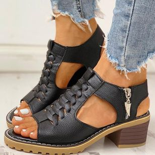 Women's Slingbacks Heels Chunky Heel Sandals_4
