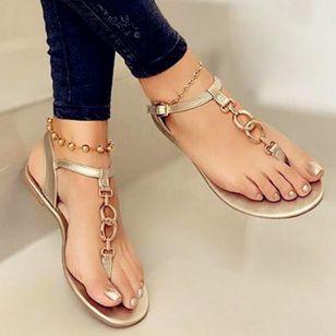 Women's Buckle Flats Flat Heel Sandals_4
