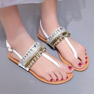 Women's Buckle Flats Slingbacks Flat Heel Sandals_5
