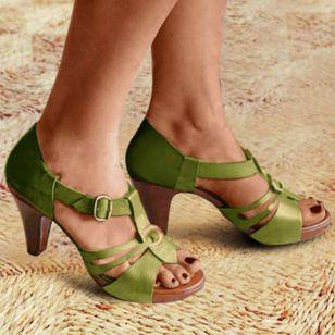 Women's Buckle Heels Stiletto Heel Sandals_4